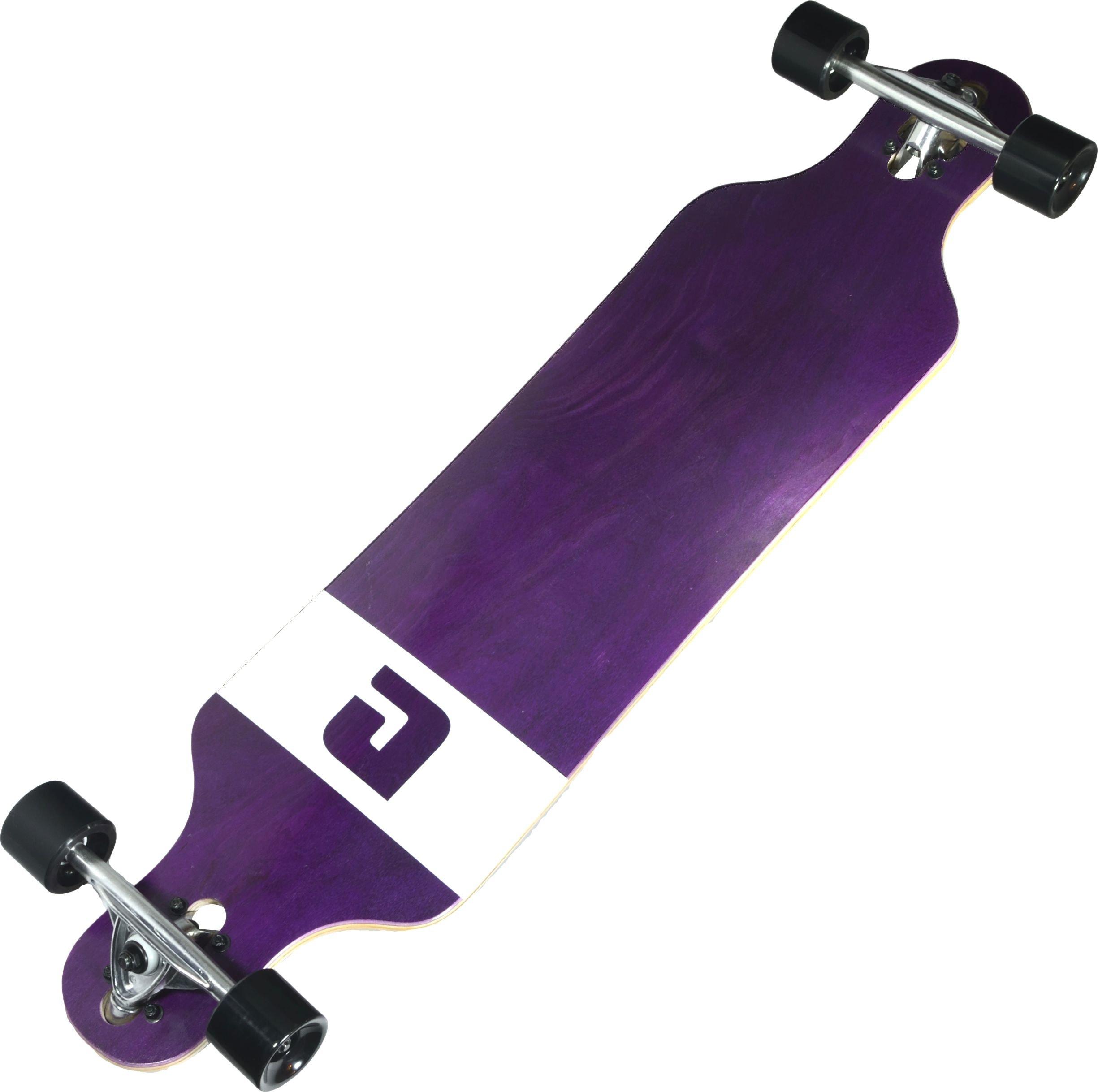 Atom Longboards Atom Drop Through Longboard - 40'', Purple Veneer