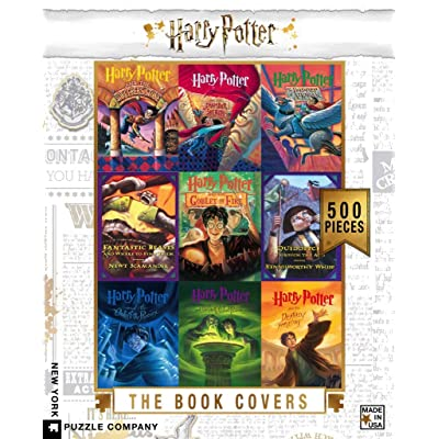 New York Puzzle Company - Harry Potter Book Cover Collage - 500 Piece Jigsaw Puzzle: Toys & Games