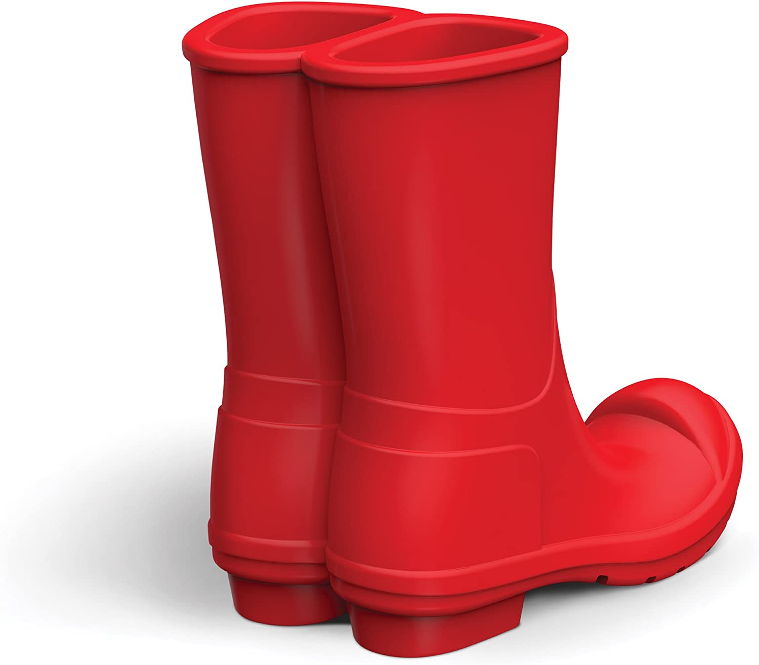 Fred 5216342 REBOOT Silicone Rain Boots Mobile Phone Stand, Red