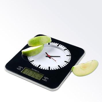 ADE Vicky Báscula Digital de Cocina, 3 kg, Cristal, Negro