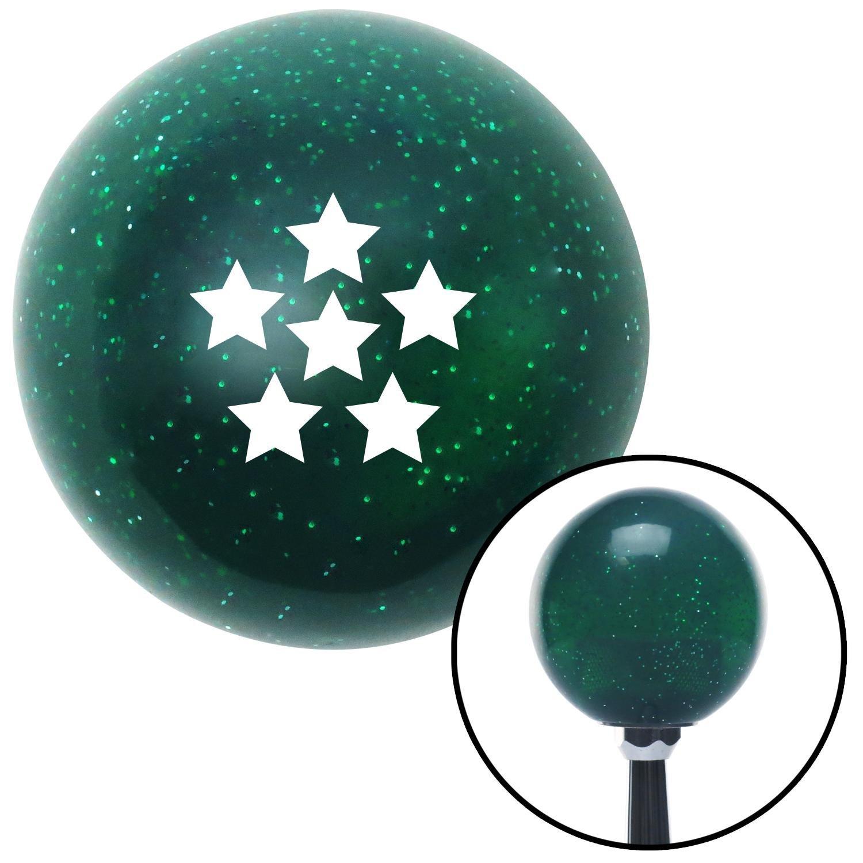 American Shifter 141765 Green Metal Flake Shift Knob with M16 x 1.5 Insert White Dragon Ball Z - 6 Star