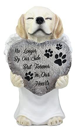 Ebros Heavenly Angel Labrador with White Tunic Pet Memorial Statue 11 Tall All Dogs Got to Heaven Inspirational Figurine Labrador Retriever Sculpture