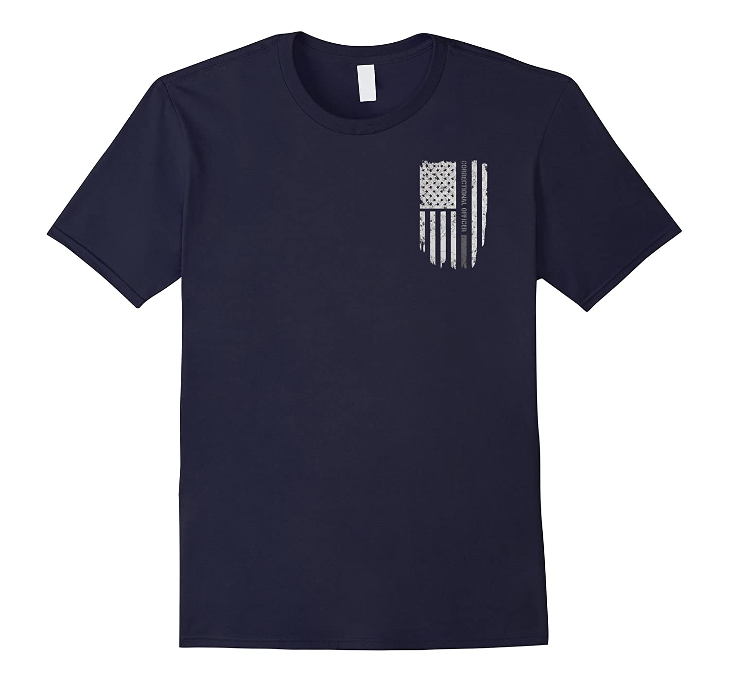 Thin Silver Line Correctional Officer T-Shirt-RT