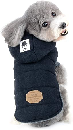 Oferta amazon: Zunea Chaleco de Perro pequeño Forro Polar Forrado Abrigo de Invierno cálido Chaqueta de Cachorro con Capucha a Prueba de Viento Mascota Chihuahua Sudadera Ropa de Perrito Prendas de Vestir XL Negro