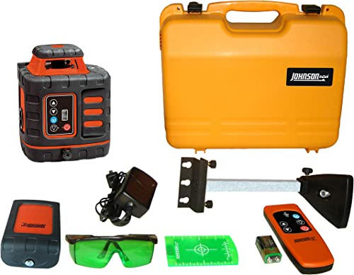Johnson Level Tool 40-6543 Self-Leveling Rotary Laser Level with GreenBrite Technology