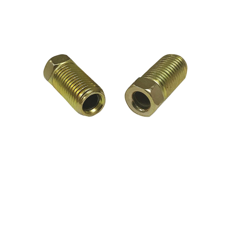 ASD Brake Line Tube Nuts For 3//16 Tube 3//8-24 Long Thread, Inverted Flare Pack of 10