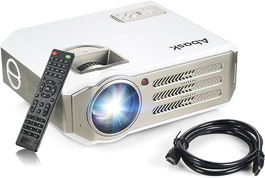 Proyector,Abask Full HD LCD 3100 Lumen Proyector Alejedo sin Hilos ...