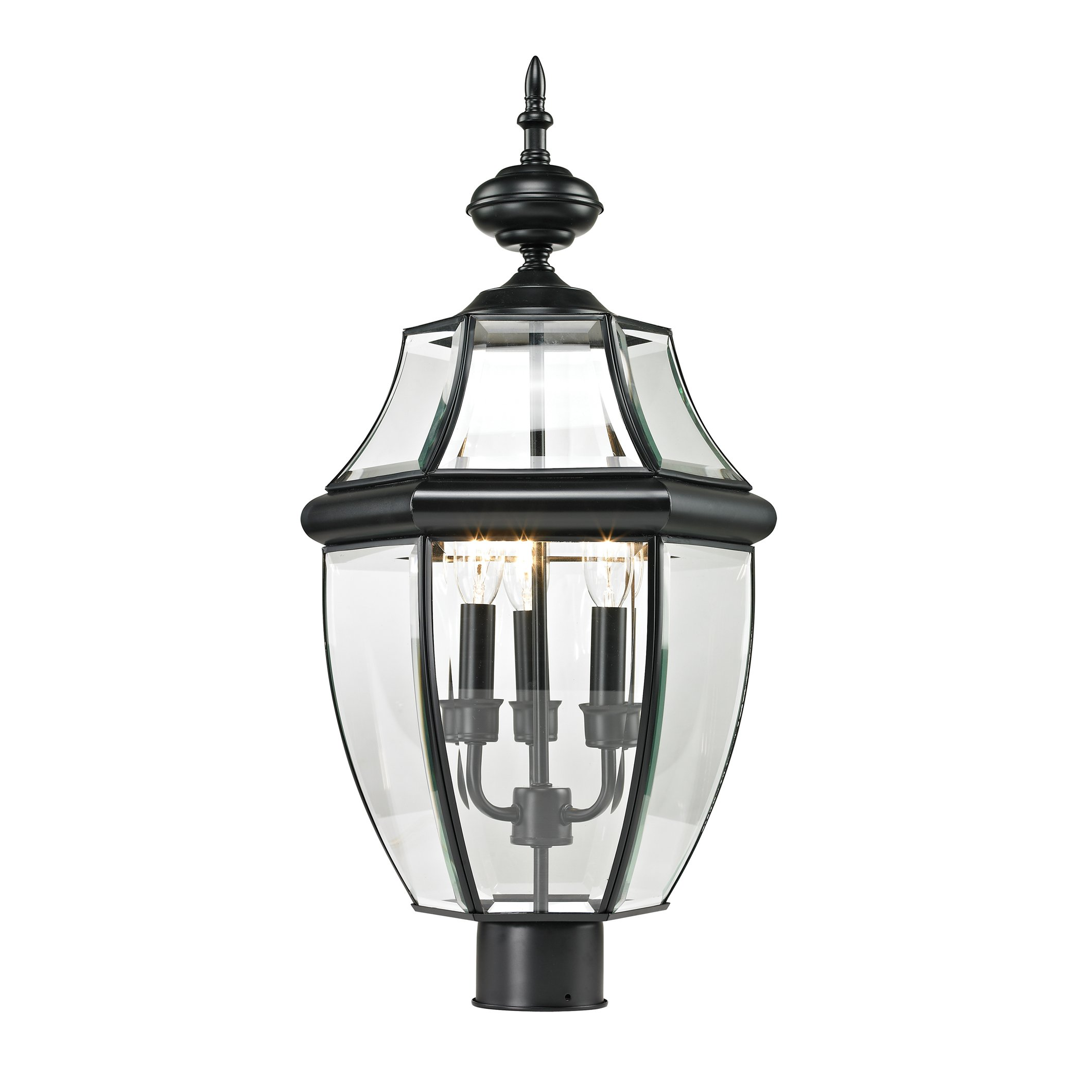 Thomas Lighting  Ashford Post Lantern, Large, Black Finish