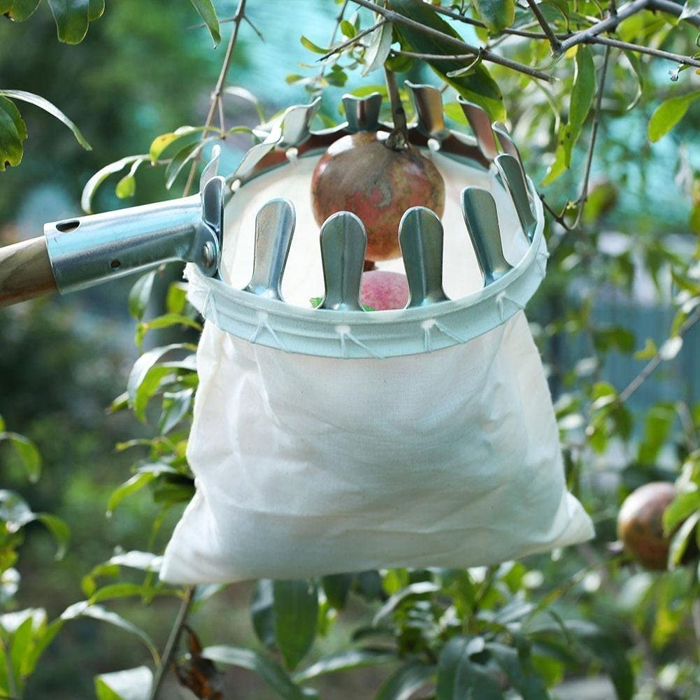 Fruit Picker with Bag Basket Garden Farm Fruit Catcher Harvest Picking Tool HO