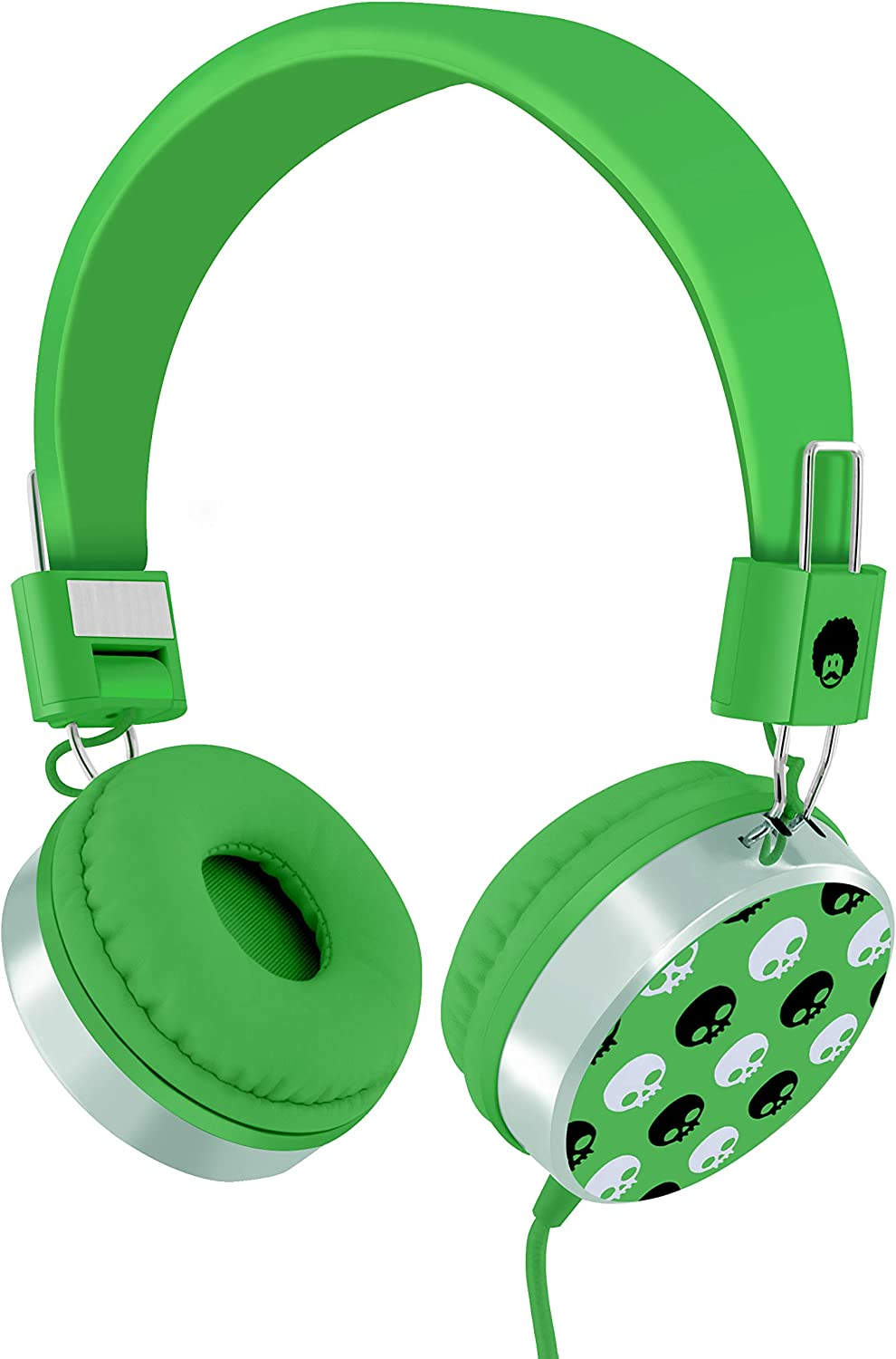 The colour of the this headphones is green look like a leaf almost the babies and toddlers love this colour of headphones almost the toddlers can use this headphone in plane