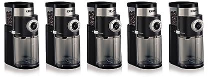 Krups GX5000 profesional asgeny excesos molinillo de café eléctrico con molinillo tamaño y copa Selección,