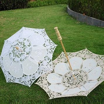 TopTie Lace Umbrella Parasol Wedding Bridal Photograph For Decoration Halloween Costume Accessories-Green