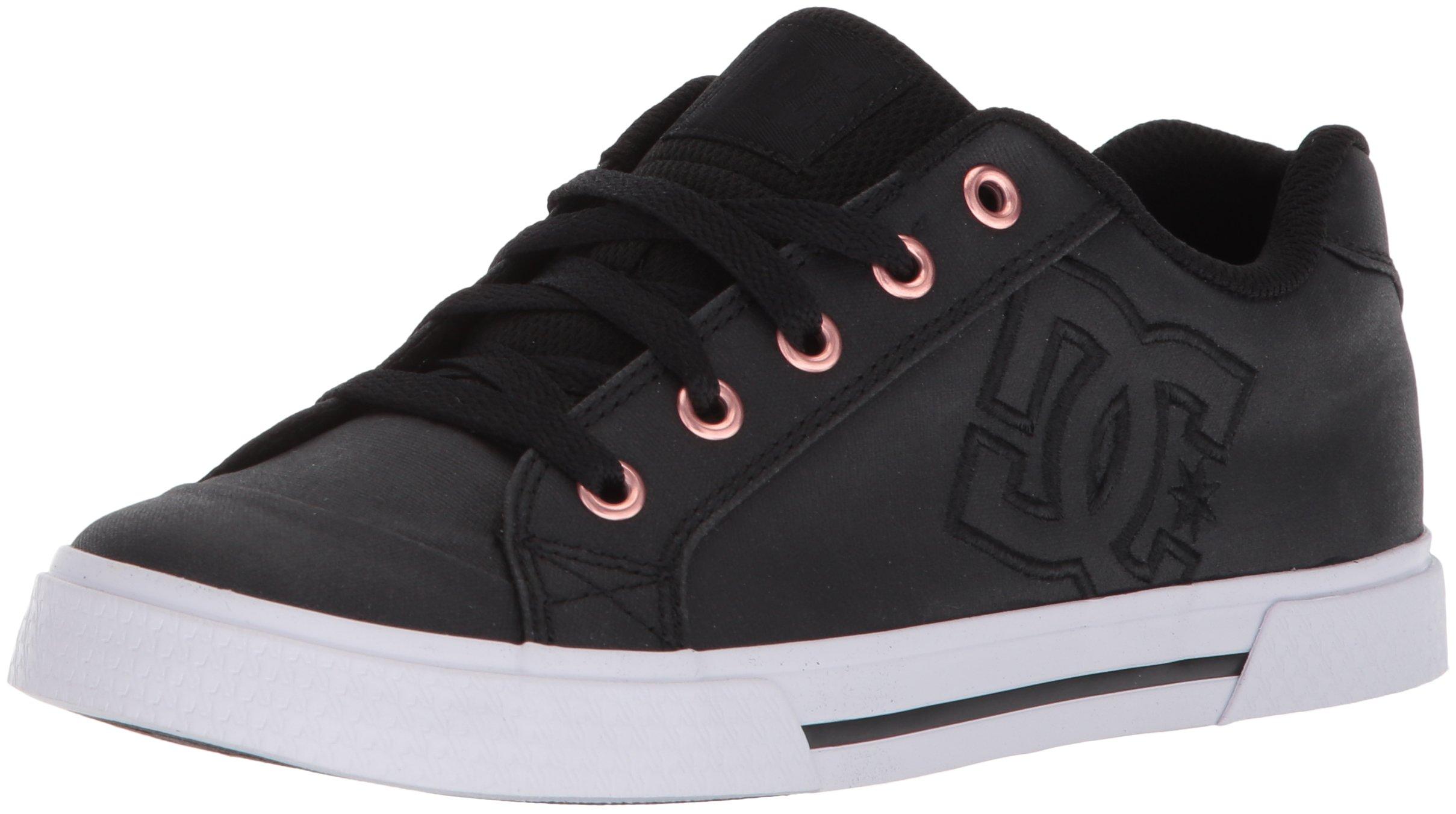 DC Women's Chelsea TX SE Skate Shoe, Black/Black/White, 8 B US by DC (Image #1)