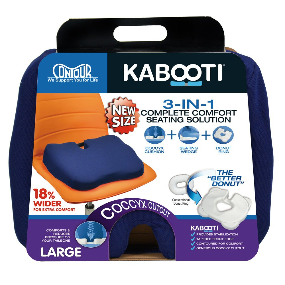 Kabooti Coccyx Seat Cushion, Extended Width (20 inches)