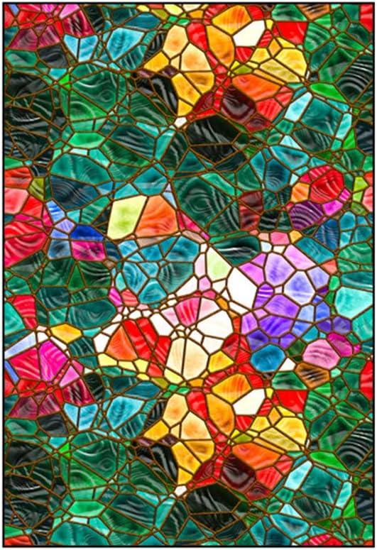 /Église Europ/éenne Couleur Vitre Stickers Opaque pour Salle De Bain Chambre /à Coucher D/époli Intimit/é Film-A01-40x60cm 16x24inch BLSTY D/écoratif Film Fenetre