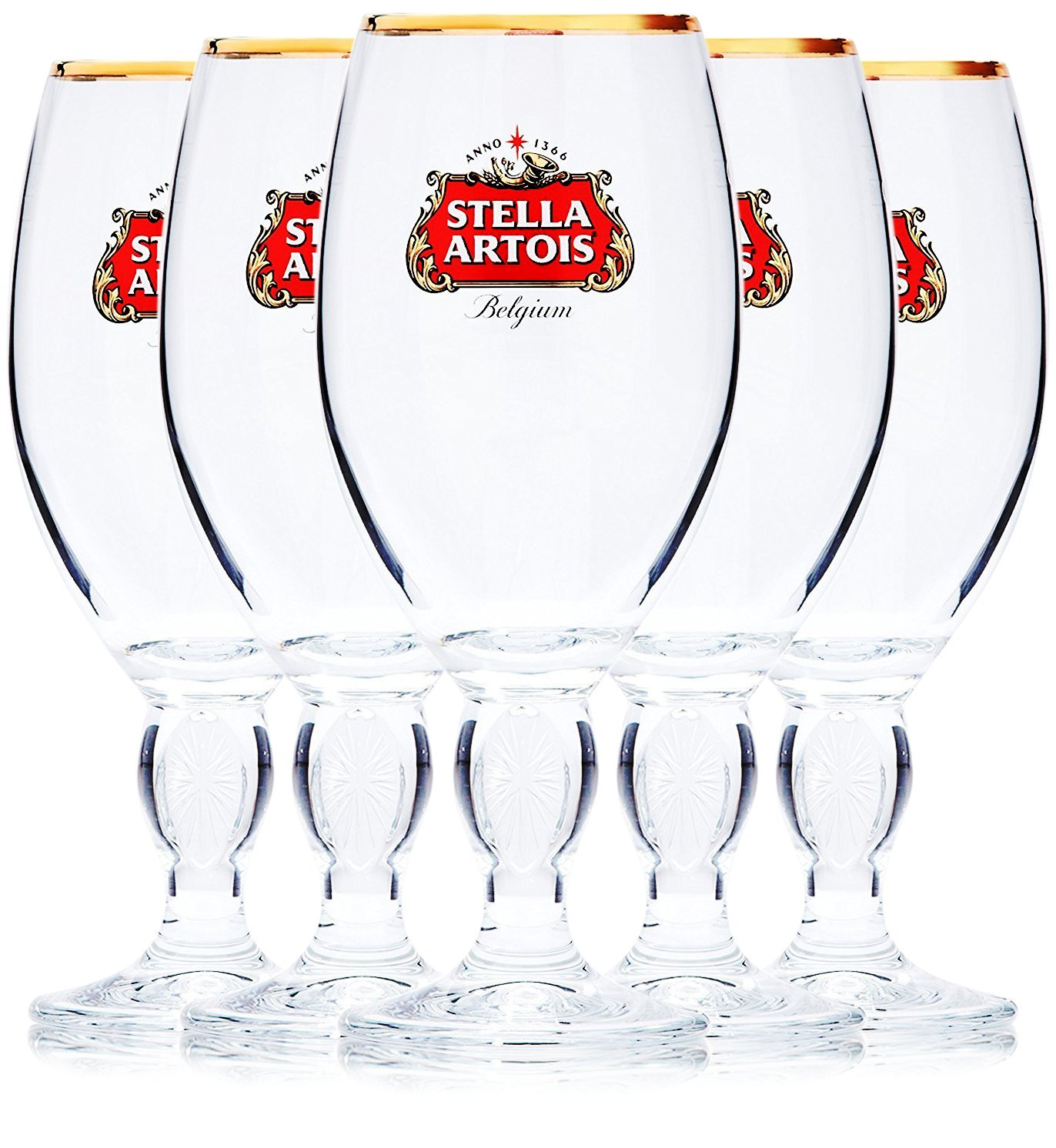 Stella Artois 5-Pack Original Beer Glass Chalice, 33cl by Stellla (Image #1)