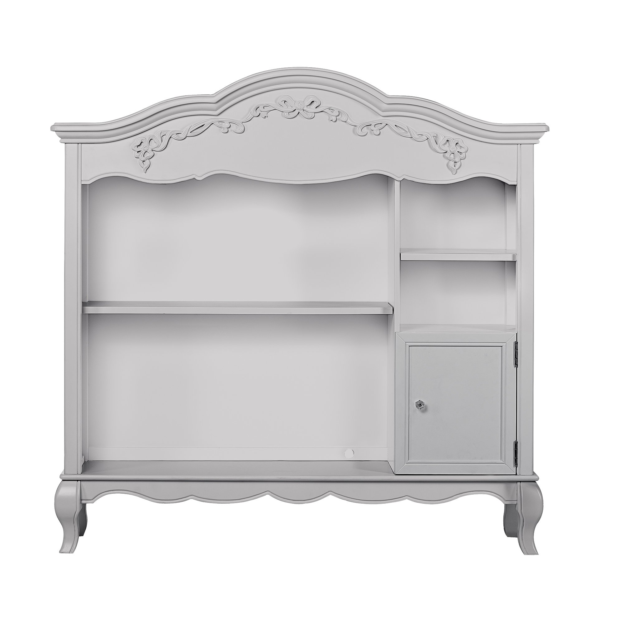Evolur Aurora Bookcase in Akoya Grey Pearl/Silver Mist by Evolur