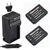 Newmowa NP-48 Battery (2-Pack) and Charger kit for Fujifilm NP-48 and Fuji XQ1