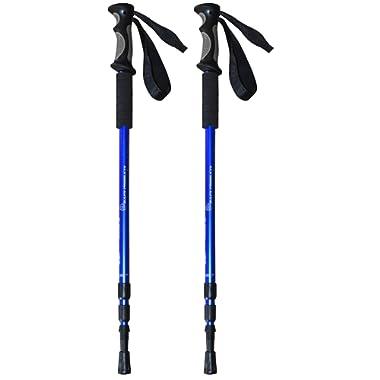 BAFX Products - 2 Pack - Anti Shock Hiking/Walking / Trekking Trail Poles - 1 Pair
