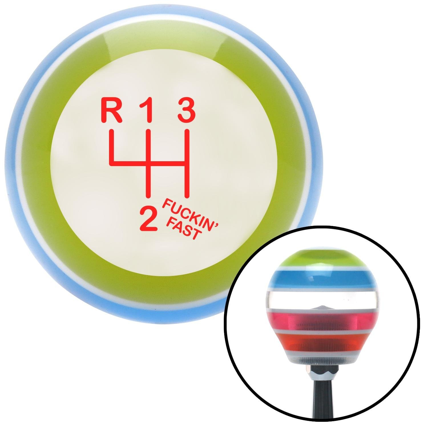 Red Shift Pattern Fcking Fast Style 3n American Shifter 4527 Stripe Shift Knob with M16 x 1.5 Insert
