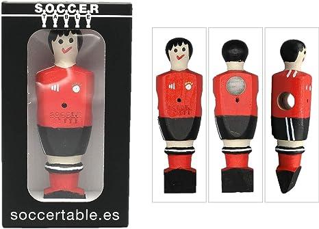 Soccer Table SL Individual Jugador de Futbolín Munich con imán, presentado en una Exclusiva Caja expositora, Color Rojo y Negro (art-095): Amazon.es: Juguetes y juegos