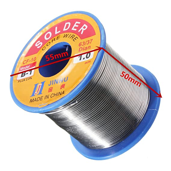 300g 1.0mm Reel Roll Welding Wire Welding Solder Wire 63/37 Tin Lead 1.2% Flux - - Amazon.com