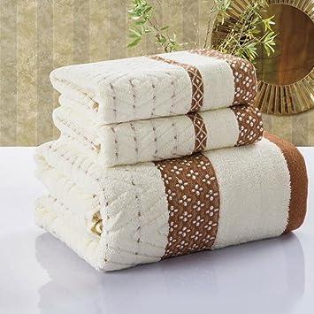 Algodón toalla toalla de baño caja de regalo trajes upscale hotel toallas: Amazon.es: Hogar