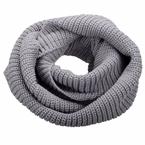unisex Loop – Scaldacollo For da donna ragazza Keep collo sciarpa a maglia  di inverno caldo 4eb4367d69ff