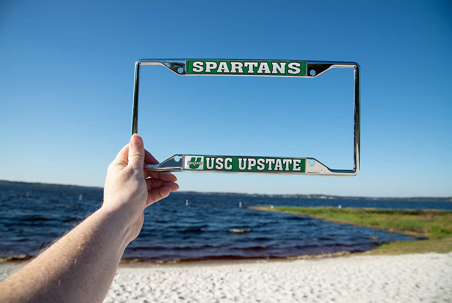 Mascot Desert Cactus University of South Carolina Upstate USC Spartans NCAA Metal License Plate Frame for Front Back of Car Officially Licensed