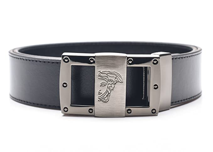 Image Unavailable. Image not available for. Colour  Versace Collection  Men s Black Leather Medusa Adjustable Belt 174 258ee5c16c1