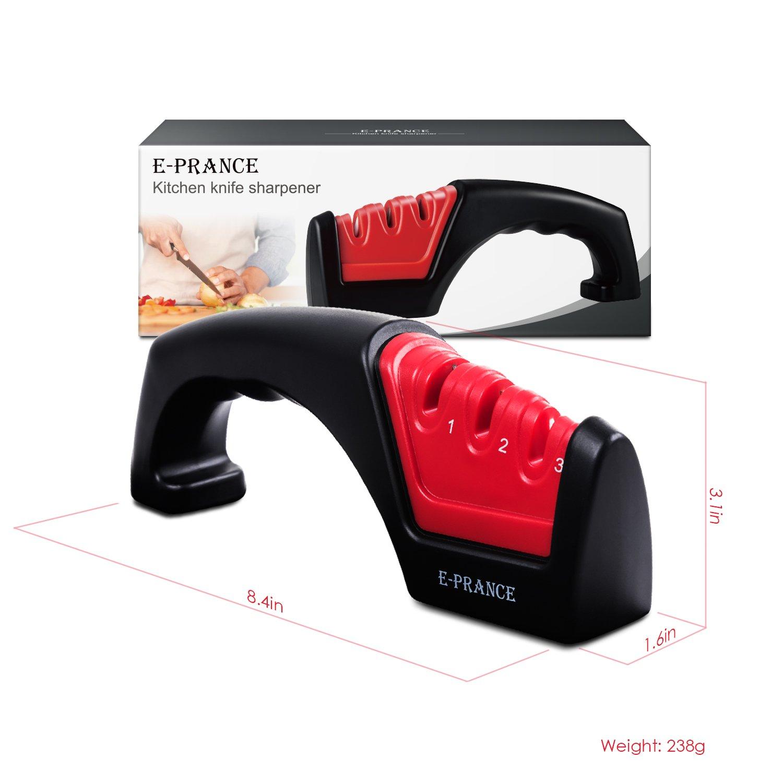amazon com e prance knife sharpener 3 stage manual kitchen knife