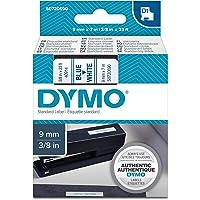 DYMO D1 Label Cassette Tape, 9mm x 7m, Blue/White