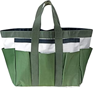 AnRuiGarden Tool Bag with Pockets Heavy Duty Polyester Oxford Garden Tote Compact Garden Hand Tools Storage Organizer Yard Plant Tool Carrierfor Indoor and Outdoor Gardening(Tools NOT Included)