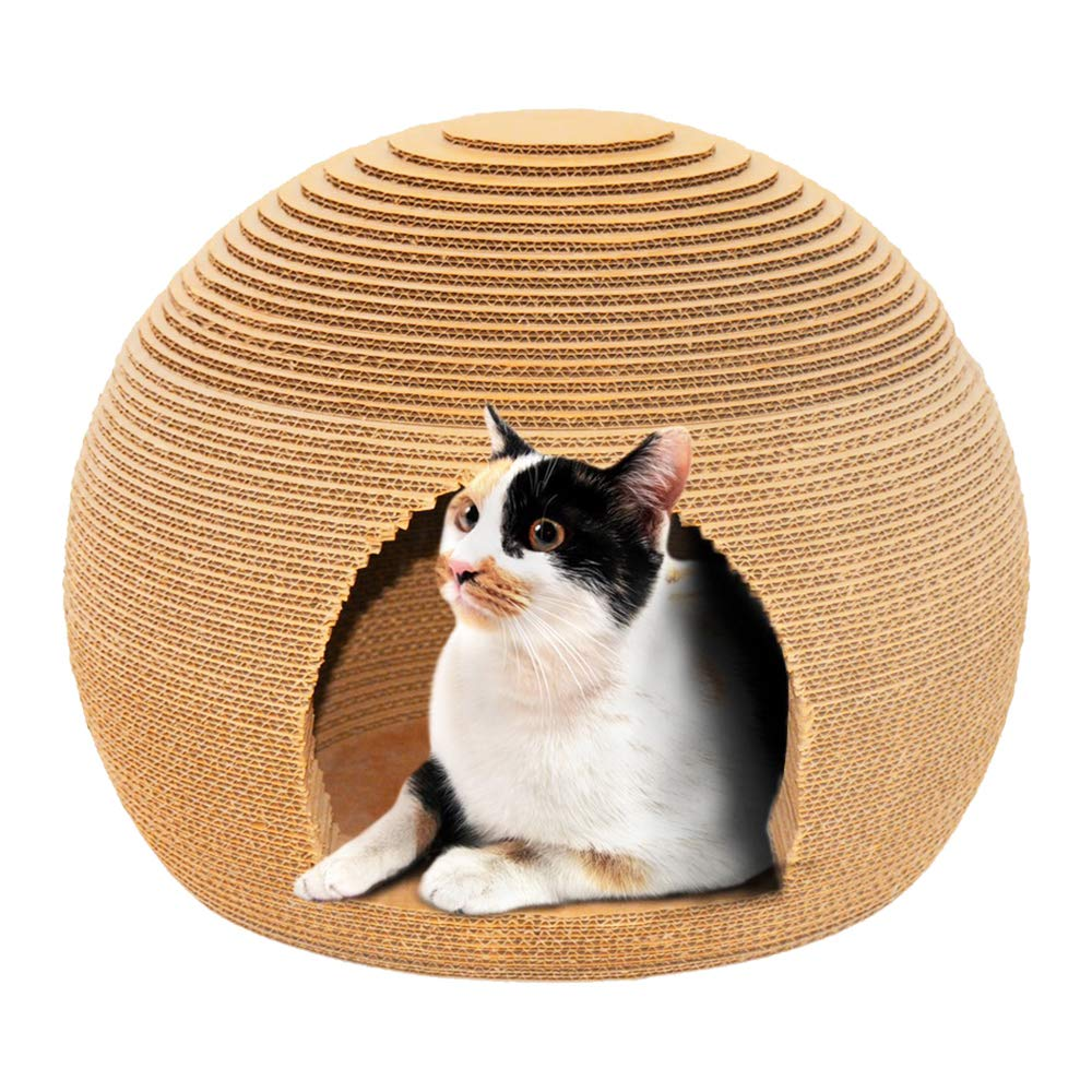 Cosmo's Own Sphere Cat Scratcher | Cozy Corrugated Cardboard | Round Shape by Cosmo's Own