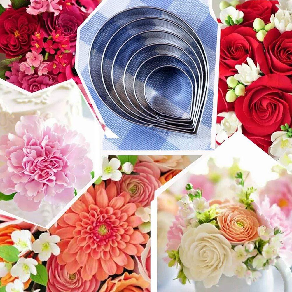 Deanyi 6 PCS Famille Moule de Coupe en Acier Inoxydable Rose Set Pain g/âteau Biscuit d/écoration en Forme de Goutte deau Moule Produits pour Maison//Cuisine