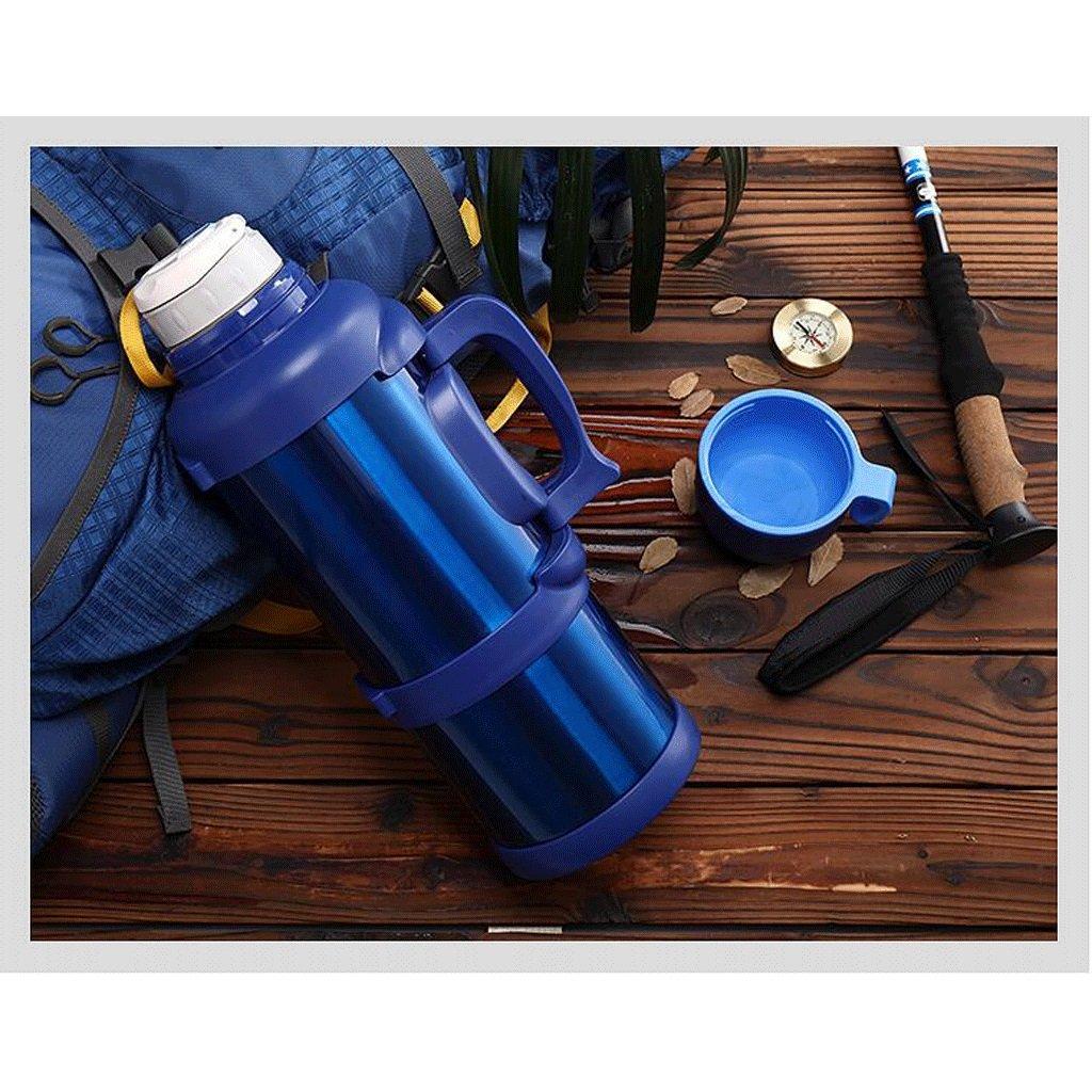 保温ポット ホームステンレス鋼の絶縁ポットケトルホテル絶縁カップ旅行の屋外ピクニックウォームボトル大容量青3L、3.5L、4L UOMUN ( サイズ さいず : 3L ) B07B2B6X47   3L