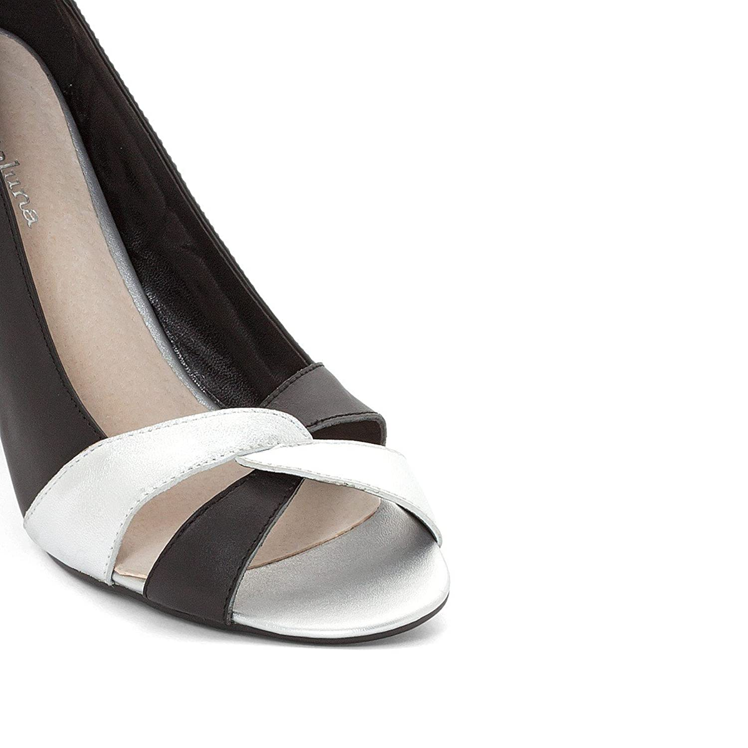 CASTALUNA Two-Tone Leather Pumps With Wide Feet countdown package online discount outlet store VWaoL6