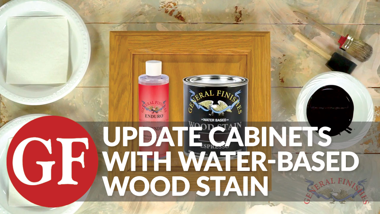 General Finishes WIPT Water Based Wood Stain, 1 Pint, Whitewash