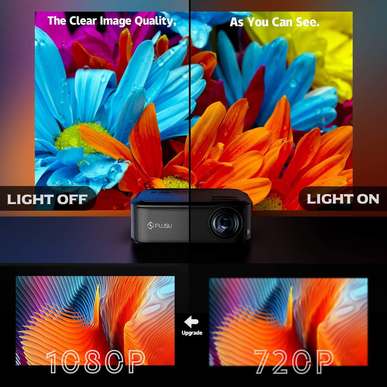 Proyector Full HD, HD Proyector en Casa 1080P , 6500 Lúmenes ...