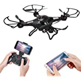 Holy Stone F183W Wifi FPV Drone with 720P Wide-Angle HD Camera Live Video RC Quadcopter with Altitude Hold, Gravity Sensor Function, RTF and Easy to Fly, Compatible with VR Headset