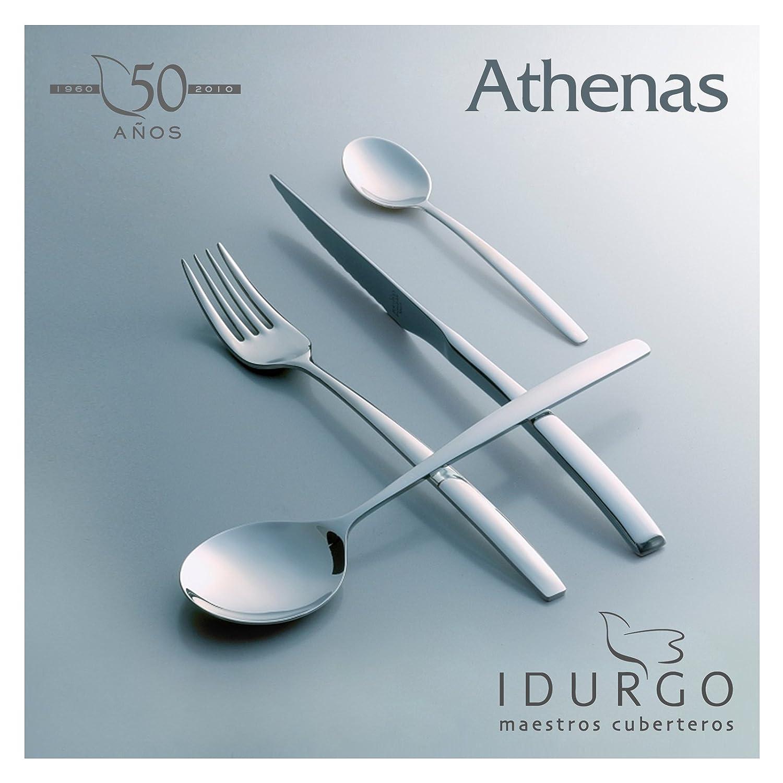 Idurgo 18000 Athenas - Set de 24 Cubiertos en Acero Inoxidable 18/10 Stranffor B6, Grosor 2.5 mm, Calidad Premier con Doble Pulido Brillo Espejo, ...
