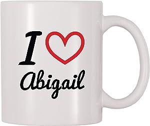 4 All Times I Love Abigail Personalized Name Coffee Mug (11 oz)