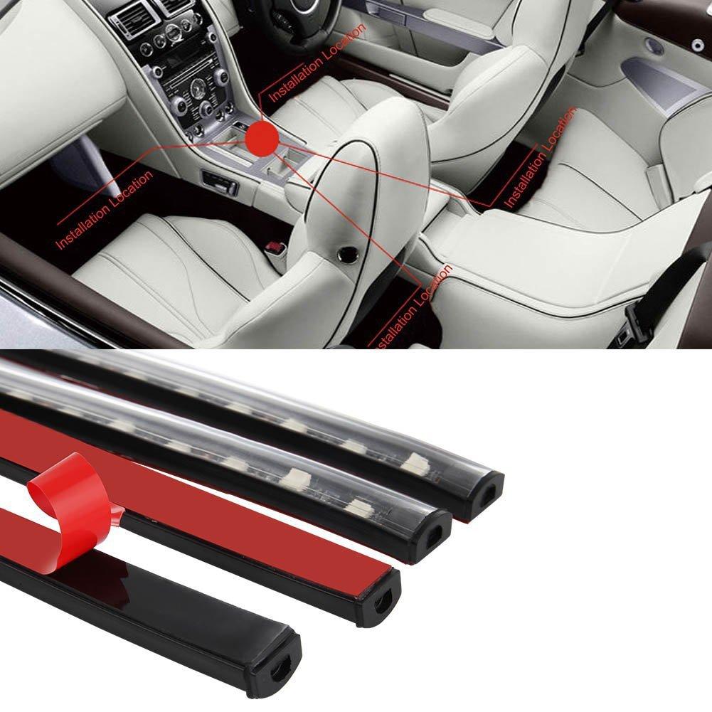 Auto LED-Streifen, Auto Innenraumbeleuchtung Lichtleiste 8 Farben ...