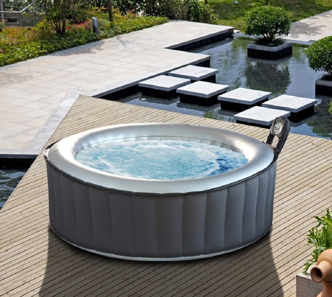 MSpa Lite Silver Cloud Bubble Spa Portable Hot Tub, 930 liters ...