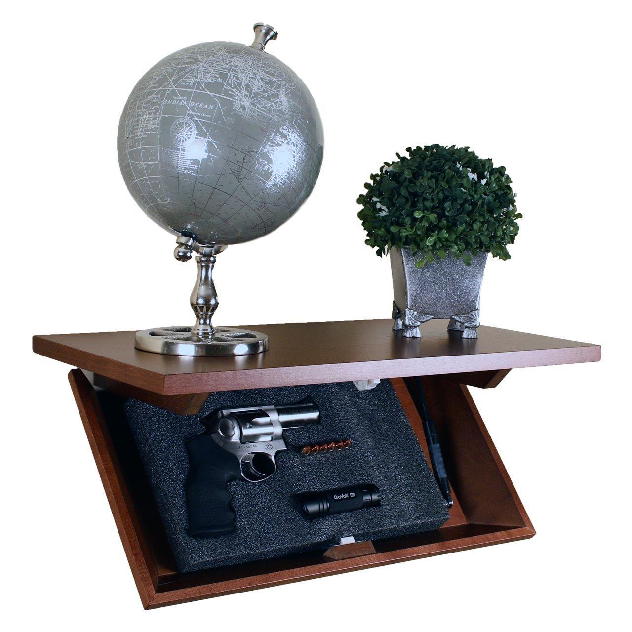 Covert Cabinets HG-21 Gun Cabinet Wall Shelf Hidden Storage, Tuscan Finish