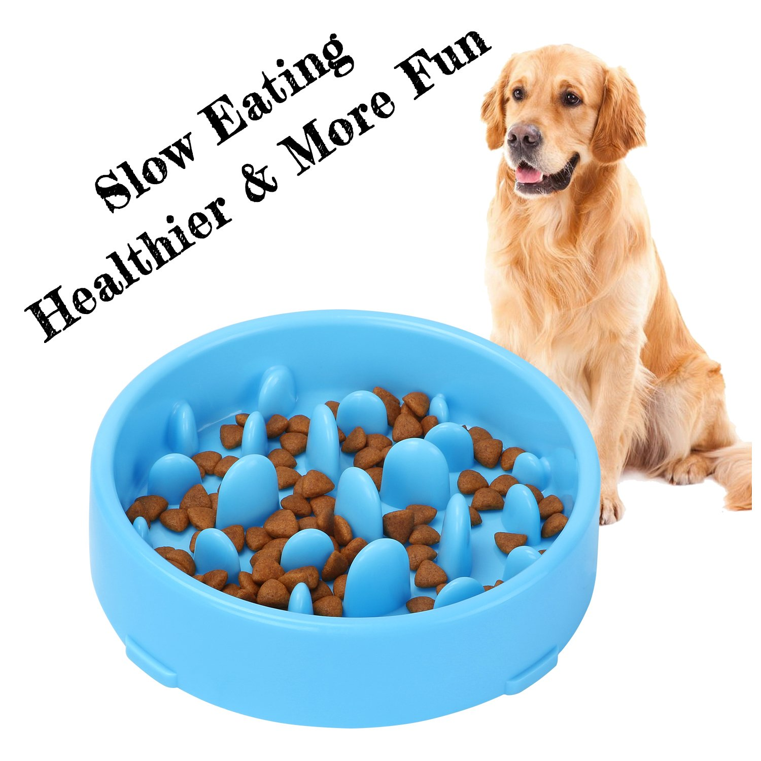 XZQTIVE Slow Feeder Bowl for Dog, Interactive Bloat Stop Dog Bowl Fun Feeder Non-Slip 51001