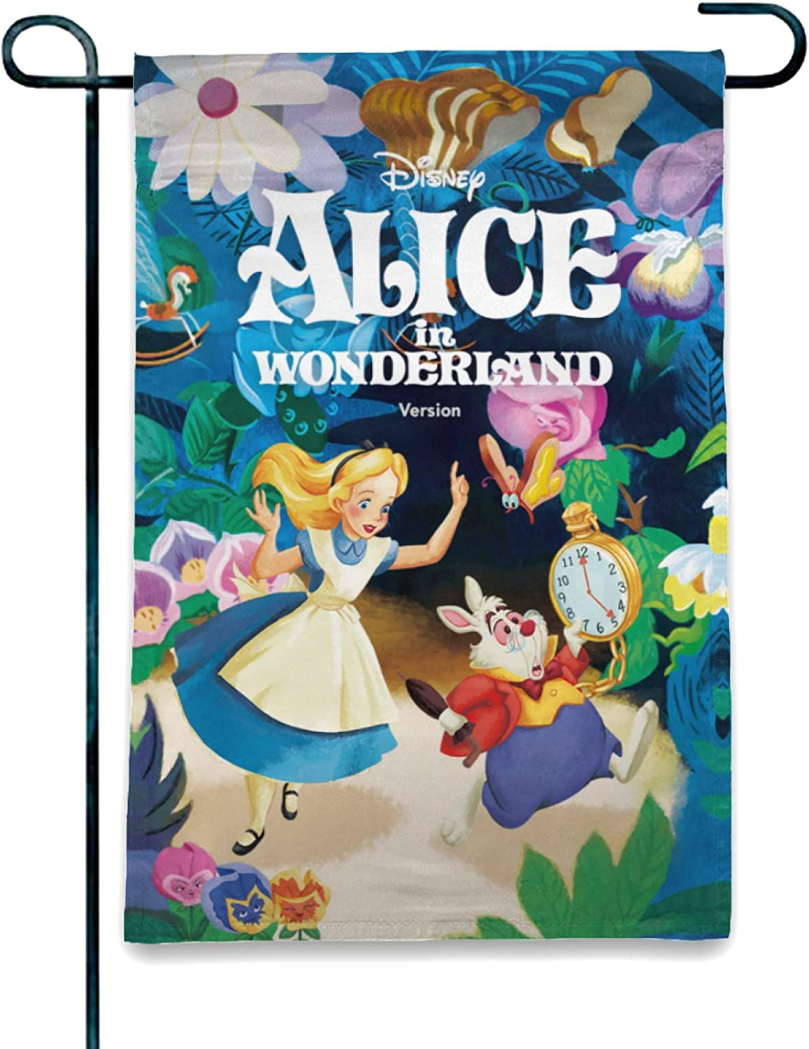 OAbear Welcome Alice in Wonderland Garden Flag Yard Decorations Use 100% Waterproof Polyester Flags