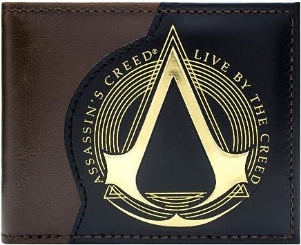Assassins Creed Live By The Creed Braun Portemonnaie Geldb/örse