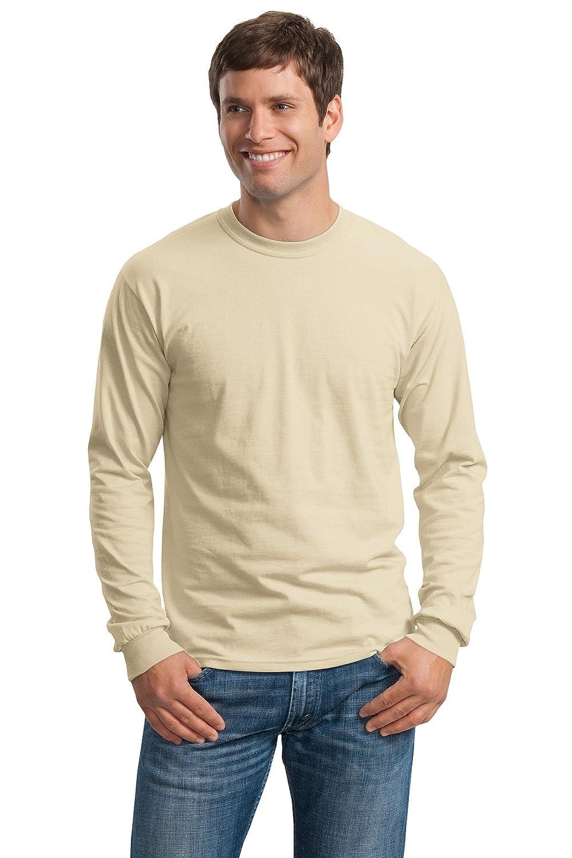 Fashion Gildan G2400 100/% Cotton L Sleeve Tee Sand 4X-Large