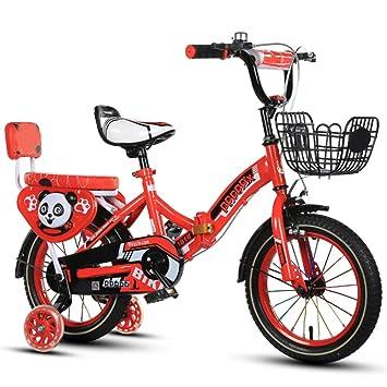 YIHANGG Bicicleta Plegable Para Niños 2~10 Años Niños Ajustable Ligero Acero Carbono Infantil Marco